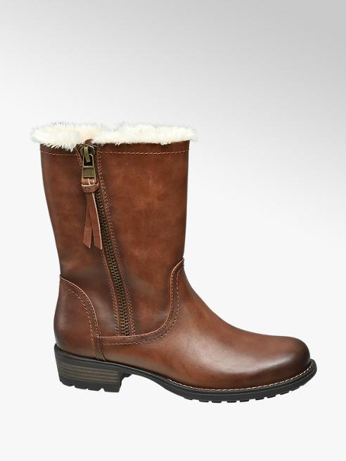 Graceland Brown Faux Fur Lined Boot