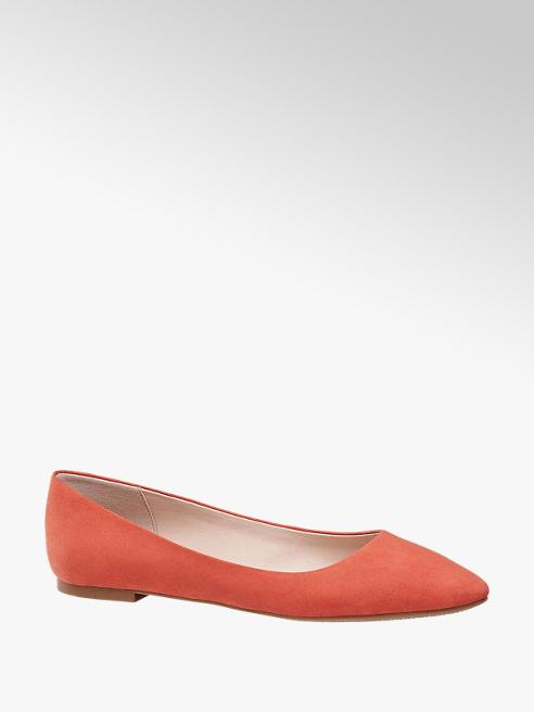 Graceland Orange Faux Suede Ballerinas