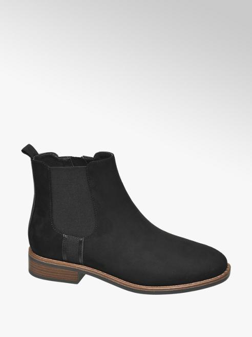 Graceland Black Faux Suede Chelsea Boots