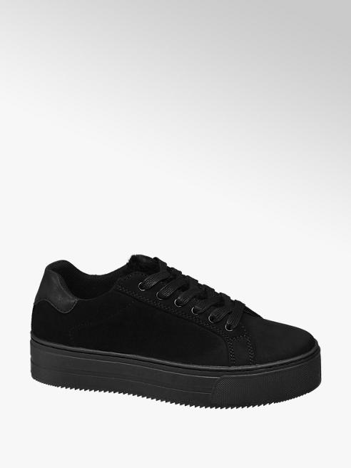 Graceland Black Chunky Lace-up Trainers