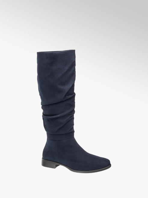Graceland Navy Blue Long Leg Boots
