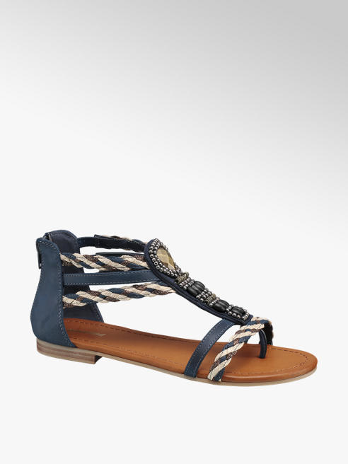 Graceland Navy Gladiator Sandals