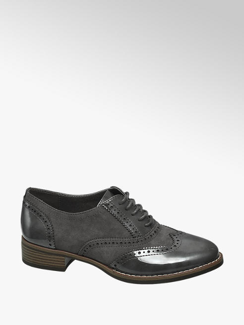 Graceland Grey Lace Up Brogues