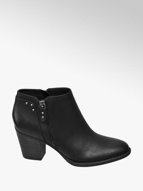 Graceland Black Heeled Ankle Boots