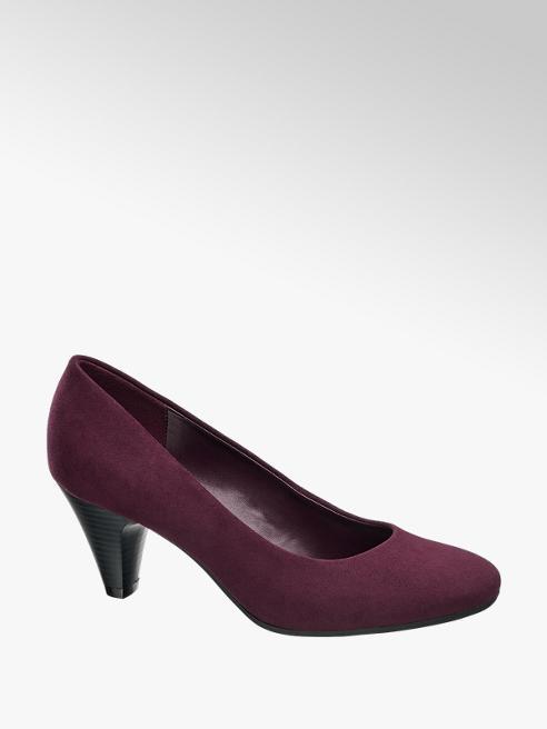 Graceland Bordo Low Heeled Court Shoes