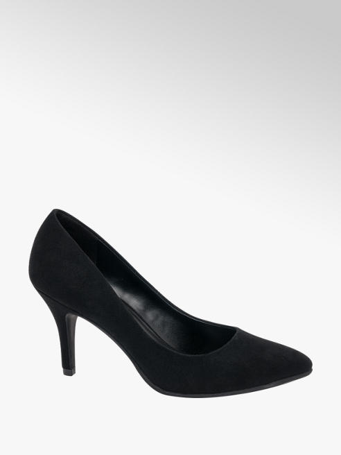 Graceland Black Heeled Shoe
