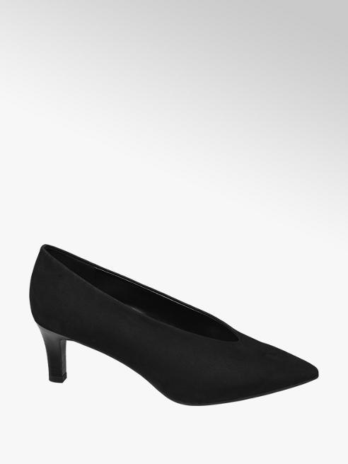 Graceland Black High Front Court Shoes