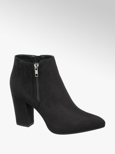 Graceland Black Heeled Ankle Boots