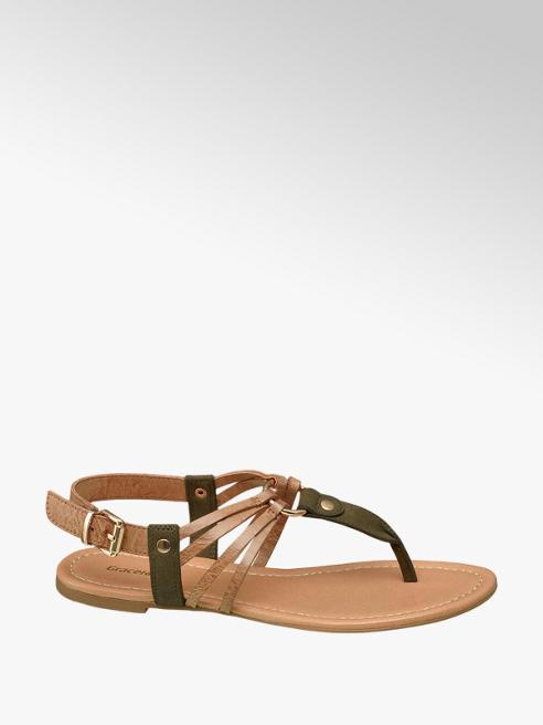 Graceland Khaki Toe Post Sandals