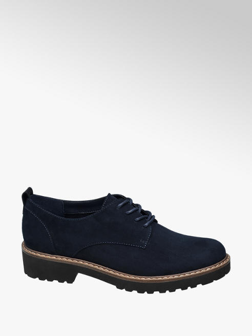 Graceland Navy Lace-up Brogues