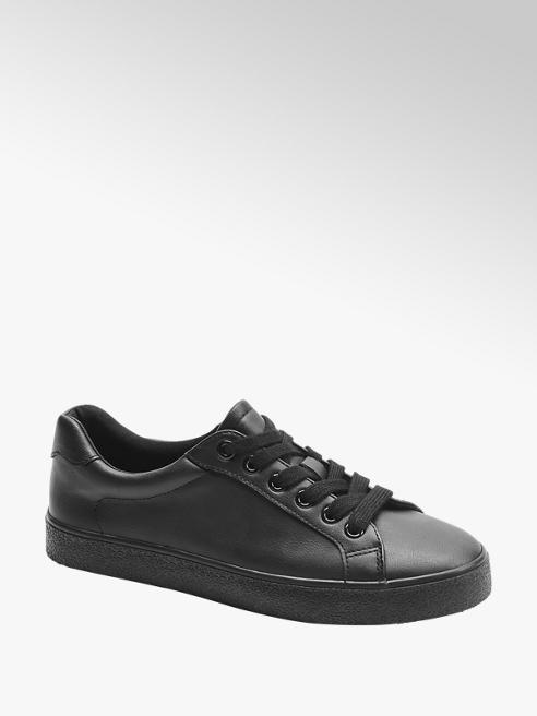 Graceland Ladies Black Lace Up Trainers