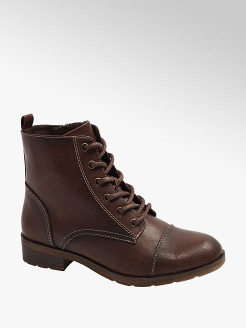 Graceland Brown Lace Up Ankle Boots