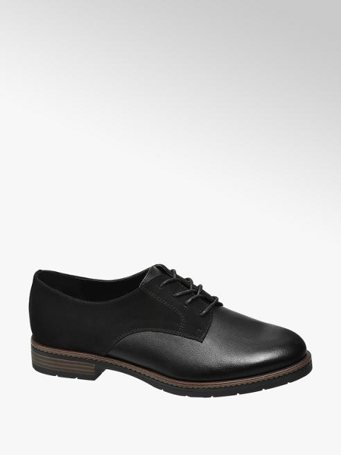 Graceland Black Lace Up Formal Shoes