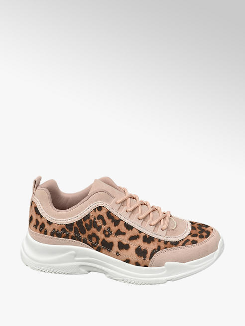 Graceland Ladies Leopard Print Chunky Trainers