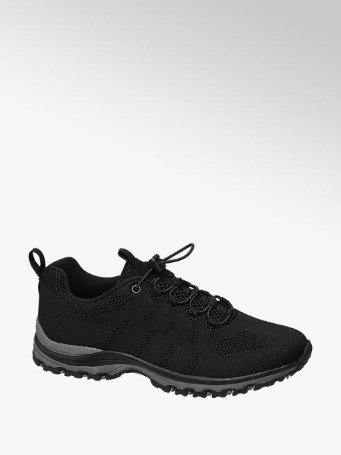 Graceland Black Lightweight Knitted Trainers