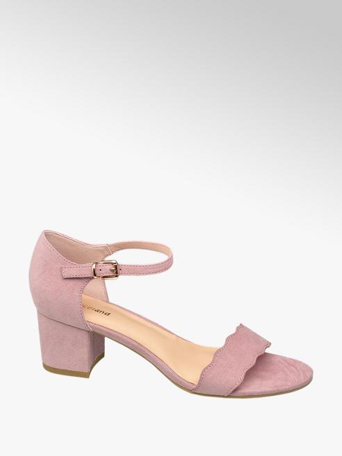 Graceland Pink Low Block Heels