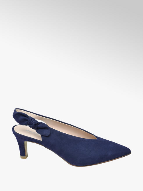Graceland Navy High Front Bow Court Shoes