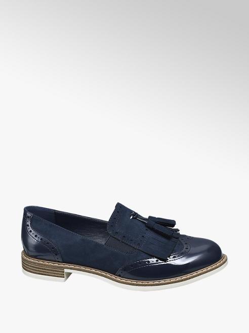 Graceland Navy Patent Tassel Loafers