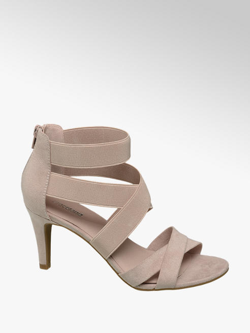 Graceland Nude Elasticated Strappy High Heels