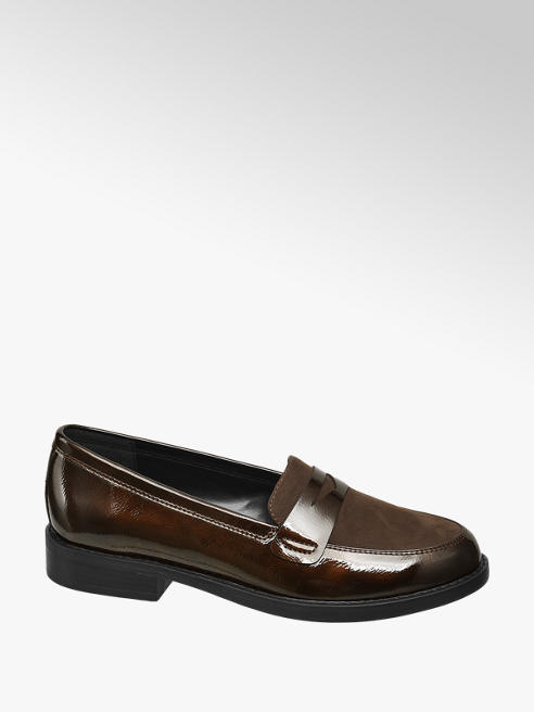 Graceland Brown Patent Loafers