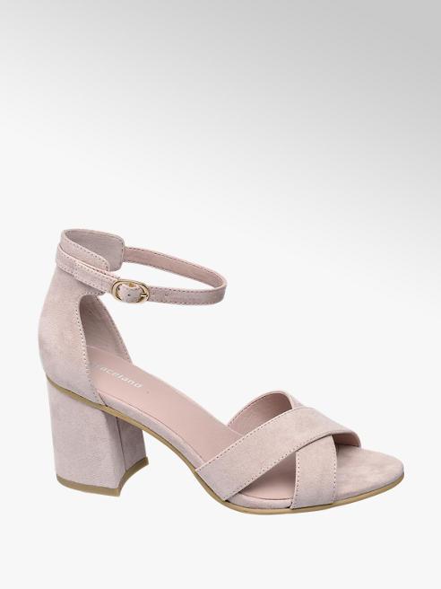 Graceland Pink Cross Over Heeled Sandals