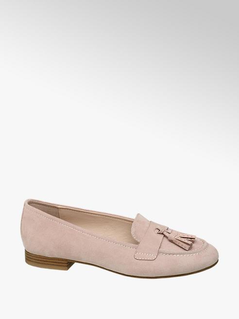 Graceland Pink Tassel Loafers
