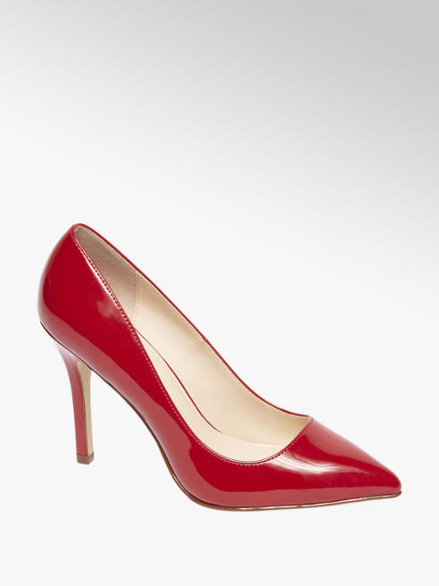 Graceland Red Patent High Heel Court Shoes