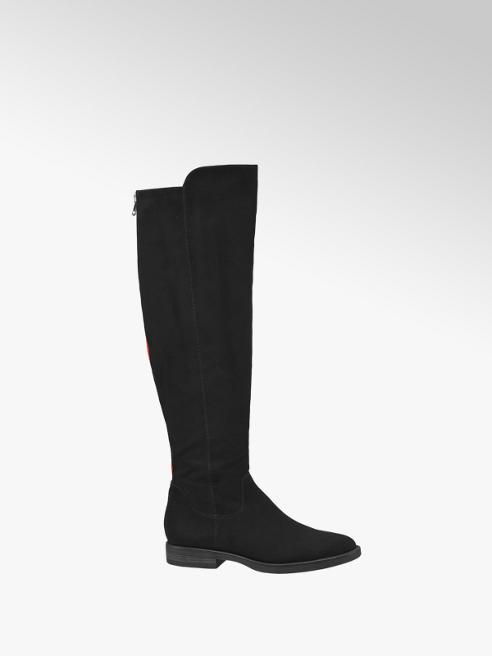 Graceland Black Stripe Detail Long Leg Boots