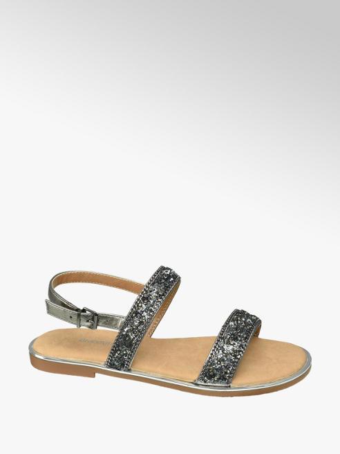 Graceland Silver Detail Sequin Sandals