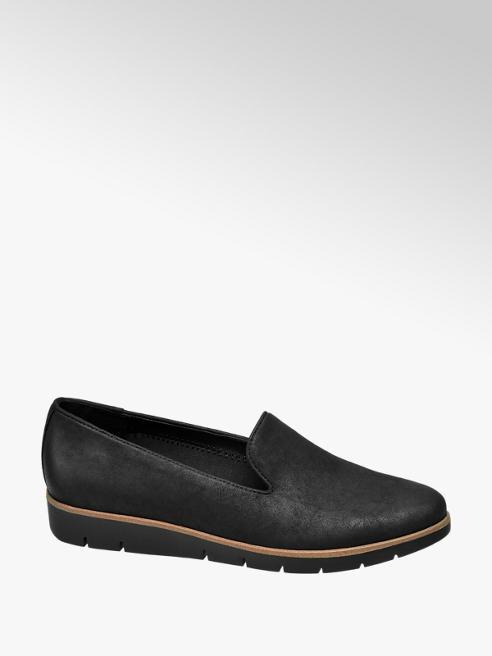 Graceland Black Contrast Slip-on Loafers