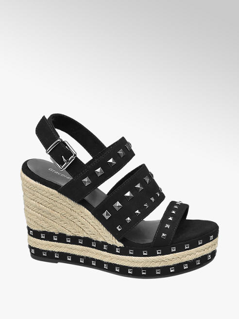 Graceland Studded Wedge Sandal