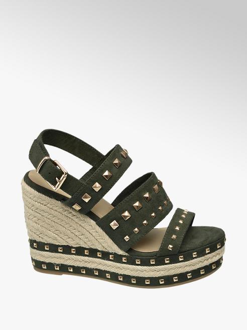 Graceland Studded Wedge Sandal