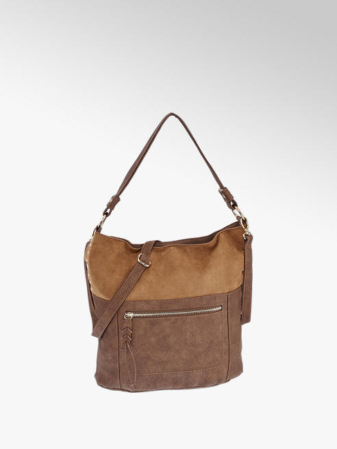 Graceland Tan Imi Suede Shoulder Bag