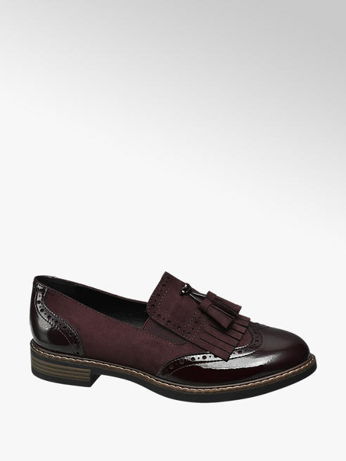 Graceland Burgundy Patent Tassel Loafers