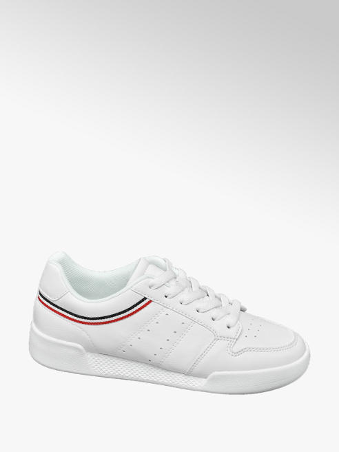 Graceland Ladies White Casual Lace Up Trainers