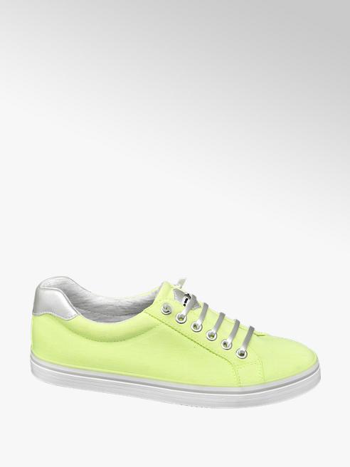 Graceland Leinen Slipper in Neon Gelb