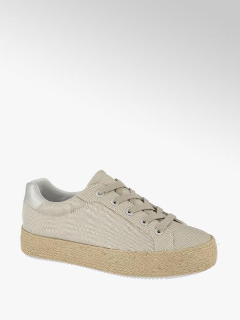 Graceland Leinen Sneaker in Beige