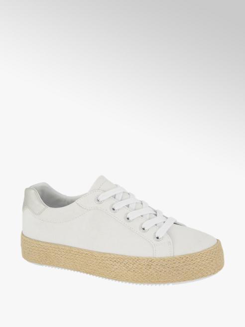 Graceland Leinen Sneaker in Weiß