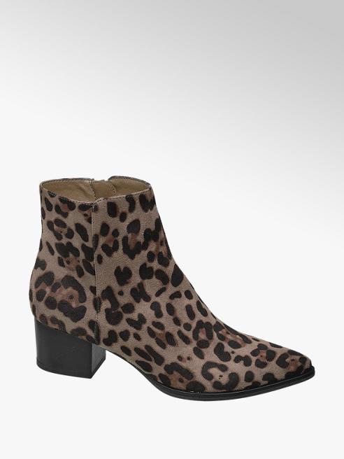 Graceland Leopard enkellaars