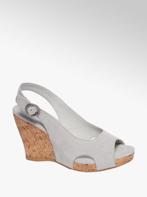 Graceland Licht grijze sandalette sleehak