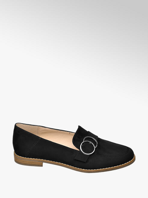 Graceland Loafer in Schwarz mit Velours-Optik