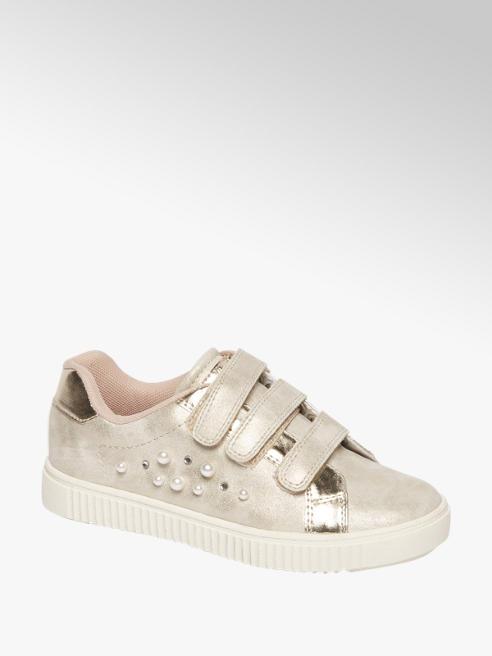 Graceland Platina kleurige sneaker klittenbandsluiting