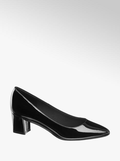 Graceland Pumps in Schwarz mit Lack-Optik