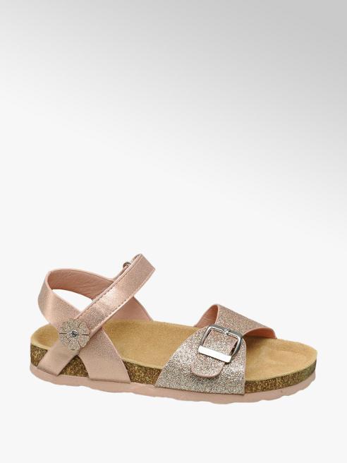 Graceland Rose gouden sandaal glitters