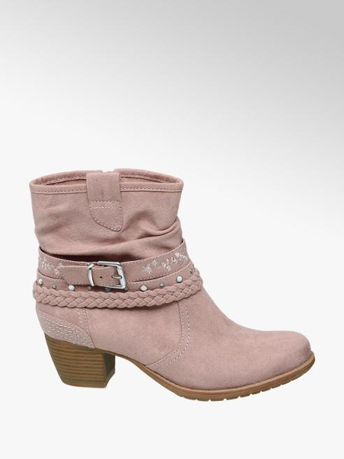 Graceland Roze enkellaars sierbandjes