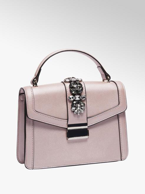 Graceland Roze handtas strasstenen