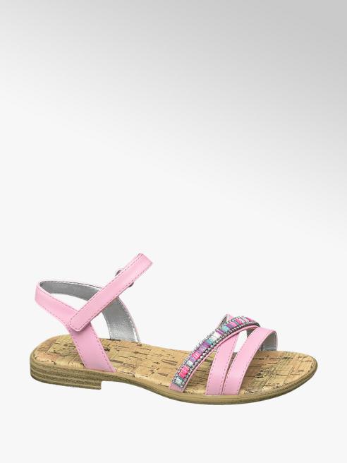 Graceland Roze sandaal klittenbandsluiting