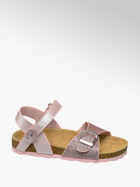 Graceland Roze sandaal leren voetbed