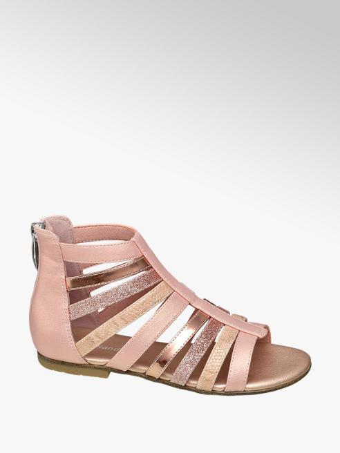 Graceland Roze sandaal ritssluiting