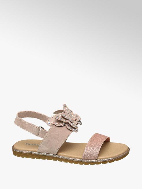 Graceland Roze sandaal vlinder